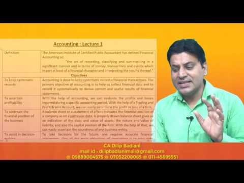 Accounts : Basics : Lecture 1