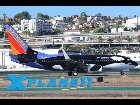 X Plane 11 | ZIBO 737 VERSION 3 29C | KPHX – KSAN | RNAV