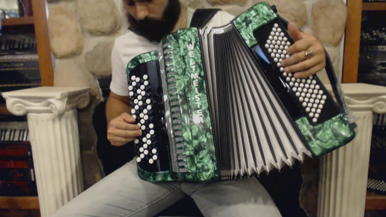 WELTROM703CGN - Green Weltmeister Romance 703 Chromatic Button Accordion C  LMM 70 96 $2999