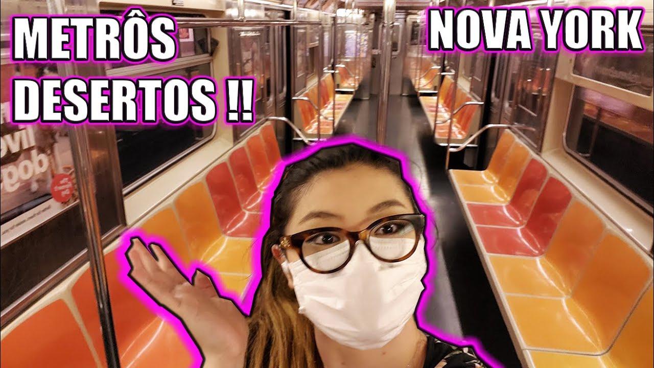 NOVA YORK: METRÔS DESERTOS pós CORONA !! Reabertura