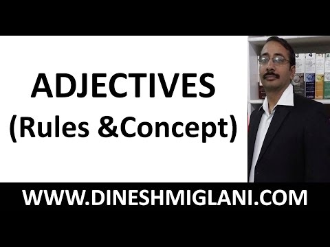 Best Rules and Concept of ADJECTIVES ( English Grammar) for SSC, CAT, IBPS