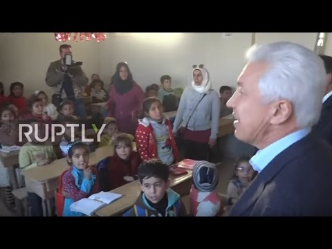 Syria: Russian and EU parliamentarians visit school in eastern Aleppo