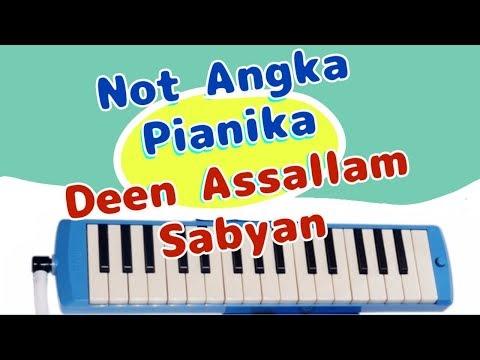 Deen assalam - Not angka pianika - sabyan
