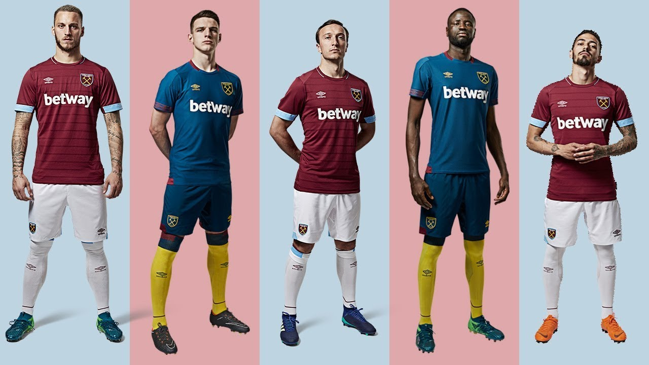 f7cd57bf01f INTRODUCING THE 2018/19 WEST HAM UNITED HOME & AWAY KITS - YouTube