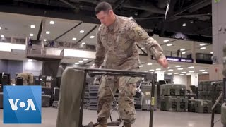 US Soldiers Set Up Mobile Hospital in Seattle