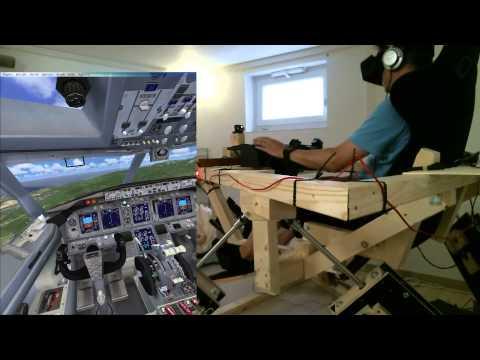 DIY 6DOF Motion Platform - FlyInside FSX - Oculus Rift DK2