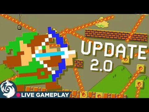 Boy Zelda In Super Mario Maker 2 Gameplay (Also I Was Late To The Stream)
