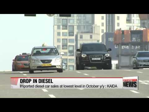 Number of newly registered diesel cars down in Oct. after VW emissions scandal
