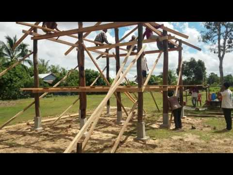 We are Bamboo house build time lapse Day 1 pm