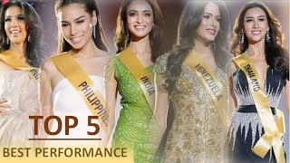 Miss grand international 2017 - top 5 best performances (full compilation)