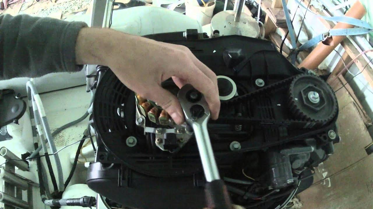 honda outboard timing belt installation part 2