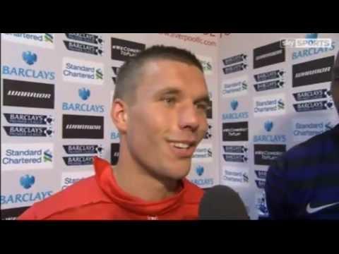Arsenal vs Liverpool 2-0 podolski & Diaby 02/09/2012