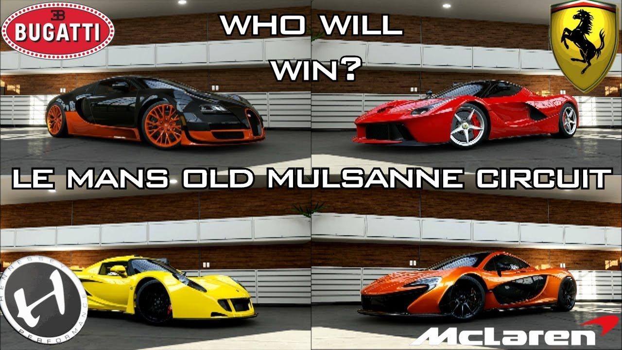 Forza 5 - Le Mans Mulsanne - Veyron SS, Venom GT, La Ferrari ... on venom gt and lotus, ford gt and bugatti, venom gt and ferrari,