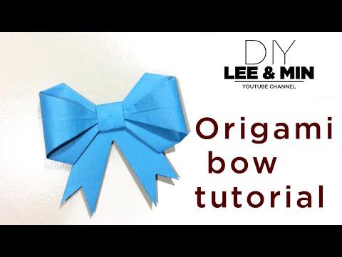 Origami - Cách gấp nơ bằng giấy đơn giản nhất