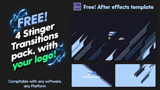 4 FREE! Custom Stinger Transition After Effects Template with your LOGO (Salient Ed.)