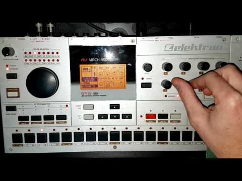 Elektron Machinedrum Beat Building (no talking)