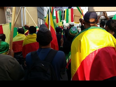 Ethiopia - Ethiopian Community in Berlin staged demonstration