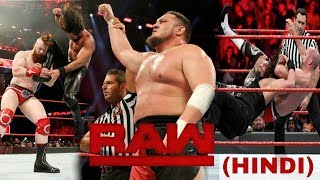 Roman Reigns Atack On Samoa Joe ! WWE RAW 11/12/2017 Highlights Hindi !