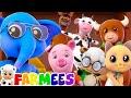 Animal Sound Song | Kindergarten Nursery Rhymes by Farmees