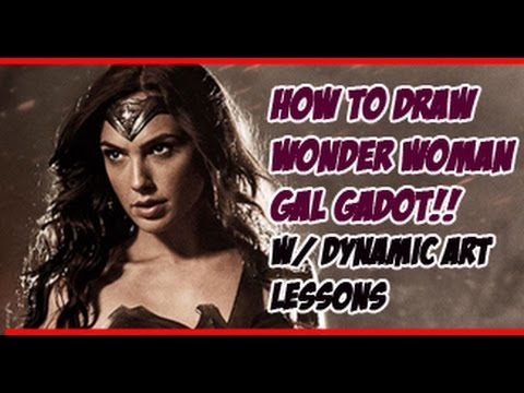 HOW TO DRAW: GAL GADOT AS WONDER WOMAN