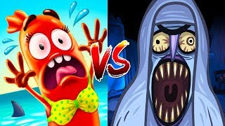 Troll Face Quest Horror Vs Run Sausage Run - All Horrors Cut Scene & All Maps Cute Sausage Epic Run