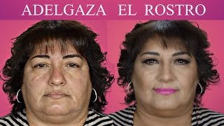 TRICKS FOR WEIGHT LOSS FACE / Round Face Makeup