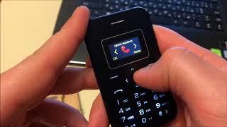 Обзор AIEK X8 - мобильный телефон кредитка