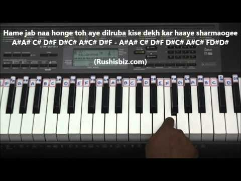 Badan Pe Sitare Lapate Huye Piano Tutorials - (Prince)
