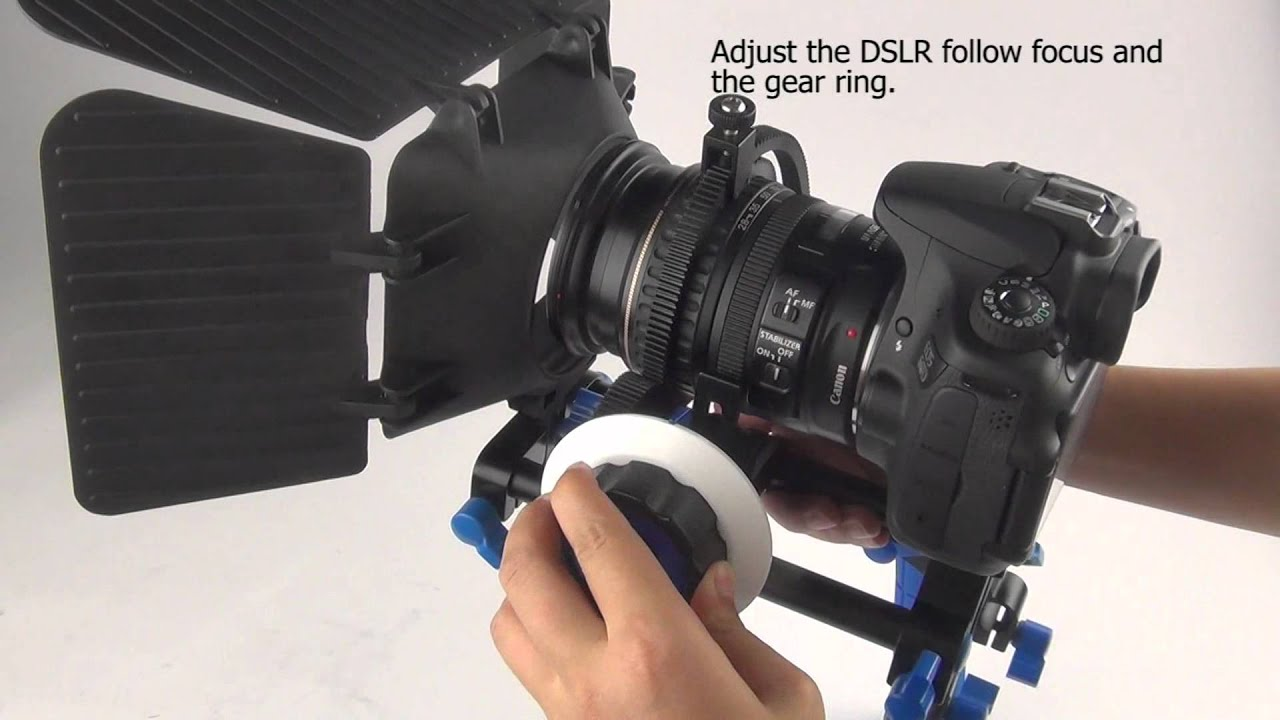7c09d6086 DSLR SLR DV VCR Follow Focus+Shoulder Mount Rig+Matte Box+Top  Handle(HV-SYWD12).flv