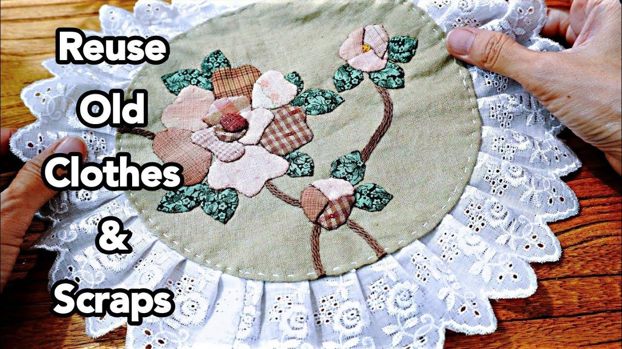 Lovely Rose Applique Idea┃Hand Stitch┃Tote bag decorstion #HandyMum