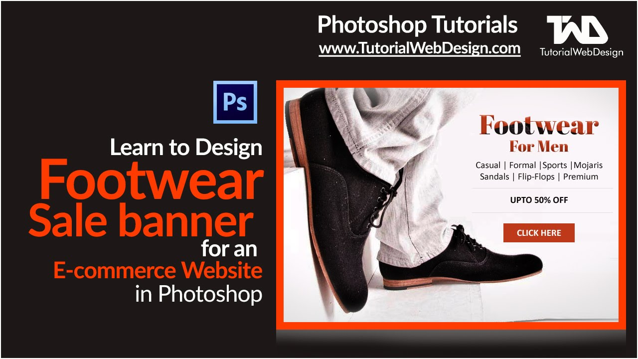 Design footwear sale banner for an ecommerce website in photoshop design footwear sale banner for an ecommerce website in photoshop baditri Images