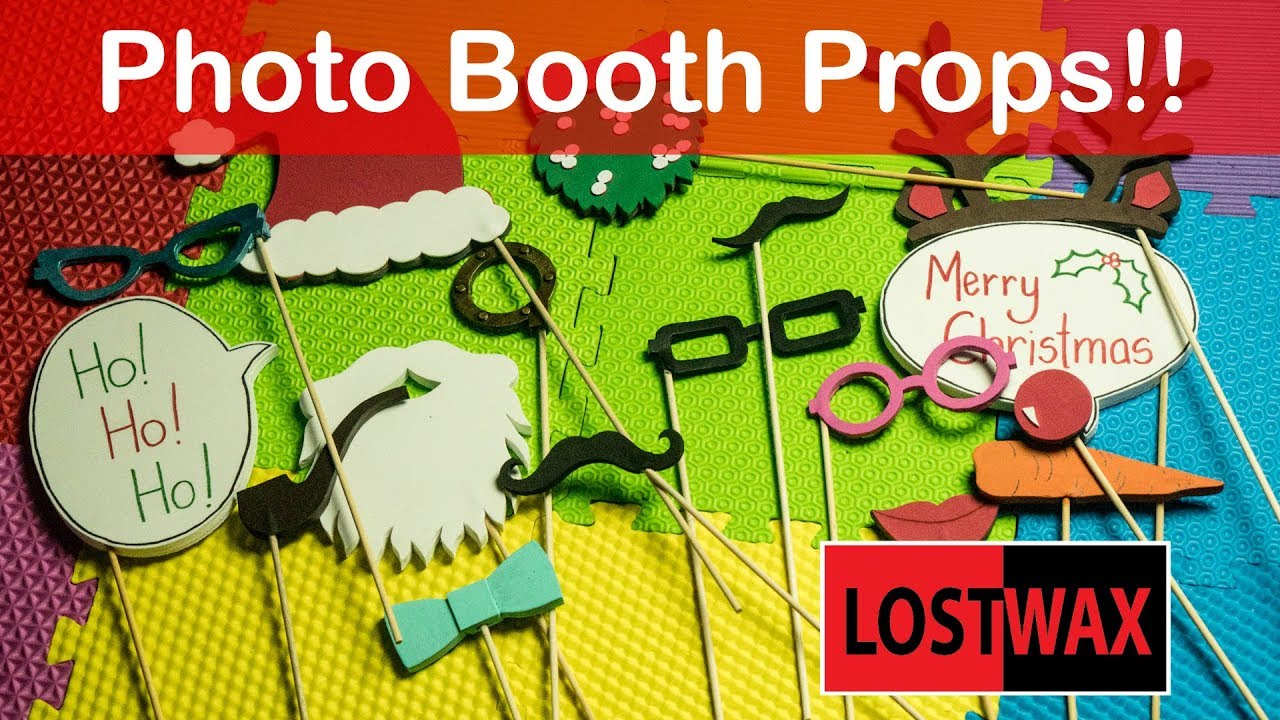 Make Your Own Christmas Photo Booth Props From Foam Free