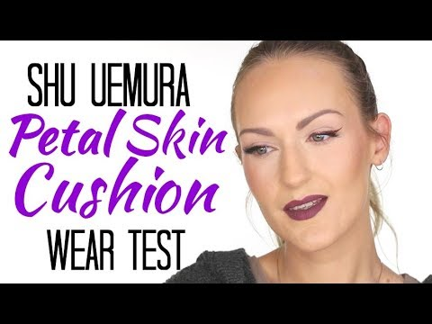 Shu Uemura Petal Skin Cushion Foundation Wear Test Oily Skin