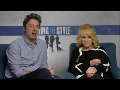 Zach Braff and Ann Margret interview Going In Style