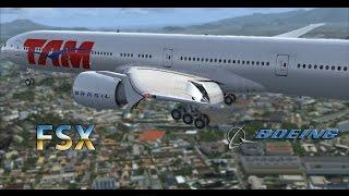 FSX // Landing in Rio de janeiro (SBGL) / Boeing 777-300 TAM