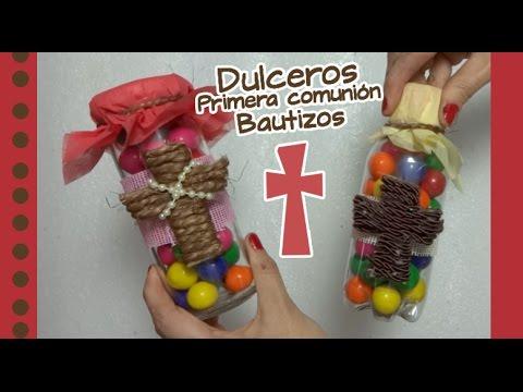 Chuladas creativas dulceros para primera comuni n o - Manualidades para comunion de nina ...