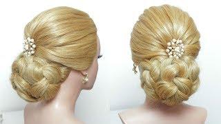 Bridal Bun Updo Hairstyle Tutorial For Long Hair