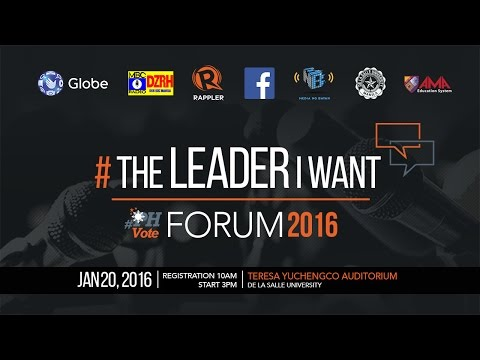 WATCH: #TheLeaderIWant Forum
