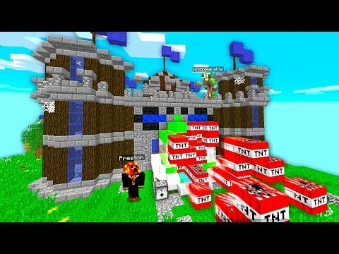 MINECRAFT 2v2 TNT WARS! DEFEND YOUR CASTLE! (Last King Standing with Unspeakable!)