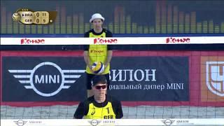 Alison/Bruno Schmidt vs Böckermann/Flüggen (Round 2) MOSCOW WT3 2017