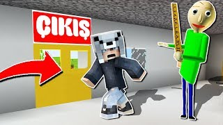 KORKUNÇ ÖĞRETMEN BALDİ'NİN OKULUNDAN KAÇIYORUM! 😱 - Minecraft