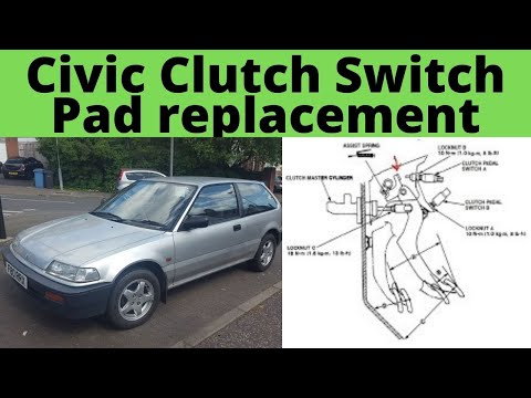 Honda Civic Clutch Pedal Start switch pad alternative