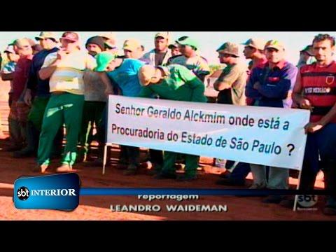Trabalhadores de usinas fazem protesto na região de Rio Preto