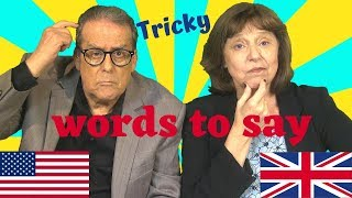 Download lagu Hard words to pronounce in British and American English MP3