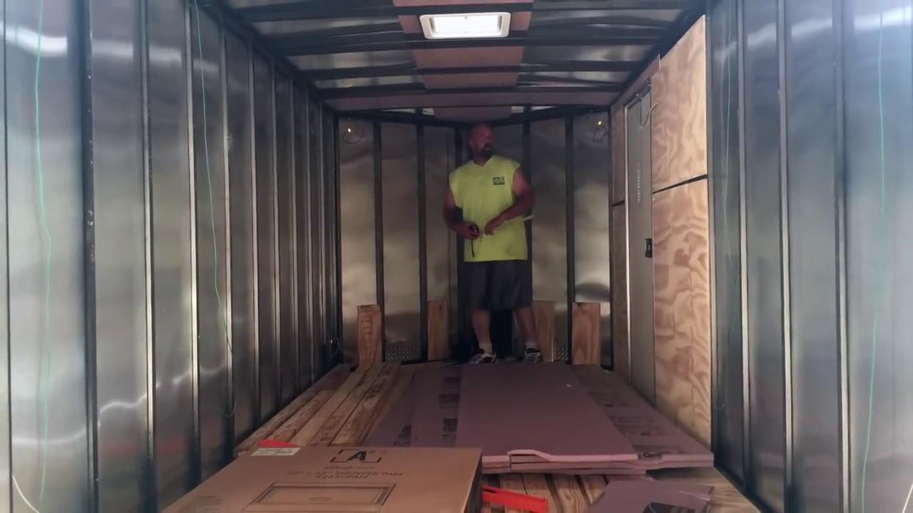 Cargo Trailer Conversion Build Part 1 Youtube