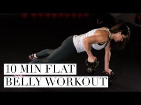 flat belly kettlebell workout 10 minute kettlebell