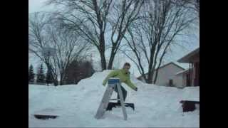 Back Yard Snowboarding
