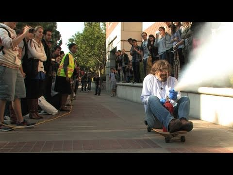 Newton's 3rd Law Explained with Skateboard, Rocket