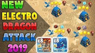 TH12 ELECTRO DRAGON WAR 3 STAR ATTACK STRATEGY 2019 = 8 Electro Dragon + 8 Balloon | Clash of Clans