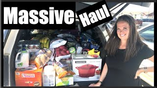 MASSIVE Grocery Haul and Emergency Food Storage for a Large Family